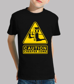 Caution Creeper Zone (Negro)