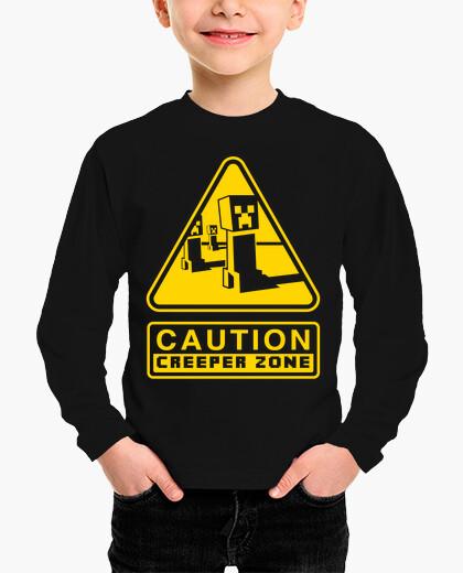 Ropa infantil Caution Creeper Zone (Negro)