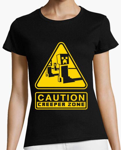 Camiseta Caution Creeper Zone (Negro)