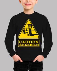 Caution Creeper Zone (Negro)