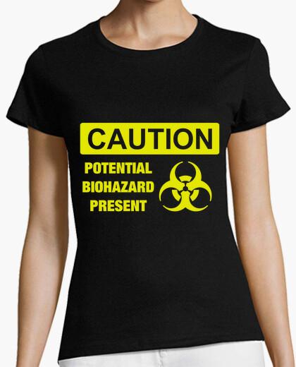 Camiseta Caution, Potential biohazard