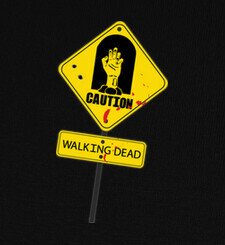 Camisetas Caution! walking dead