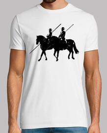 cavalier de pôle cheval noir costume co