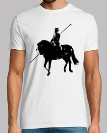 cavalier de poteau de cheval noir costu