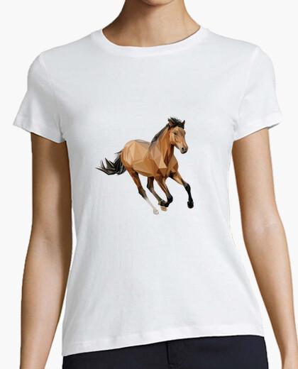 T-shirt cavallo vettore run