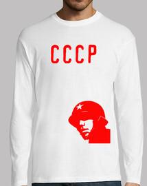 Cccp  T-shirt  rouge soldat
