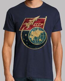 cccp drapeau fusée spatiale