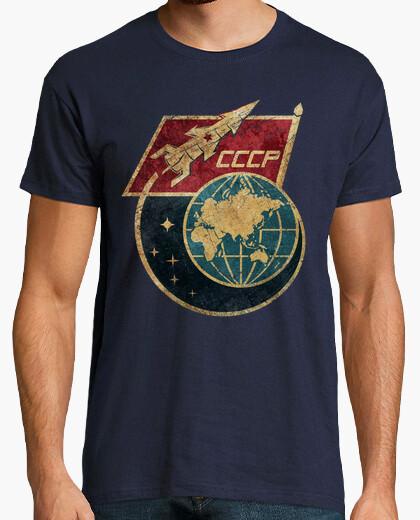 T-shirt cccp spazio rocket bandiera