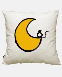 Ce chat est amoureux de la Lune