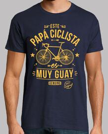 ce papa cycliste est très cool