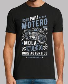 ce papa motard est très cool