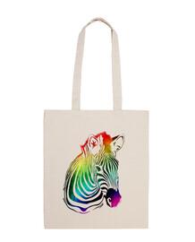 Cebra vintage arcoiris