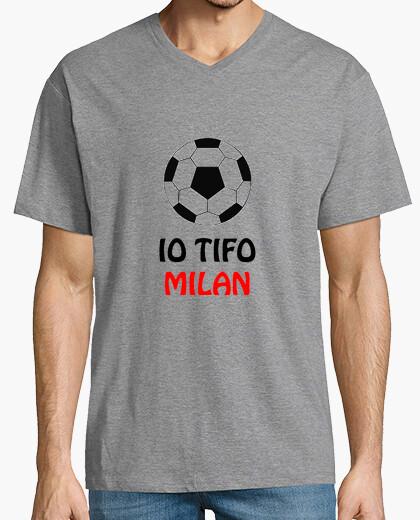 T-shirt celeste uomo tifo milan