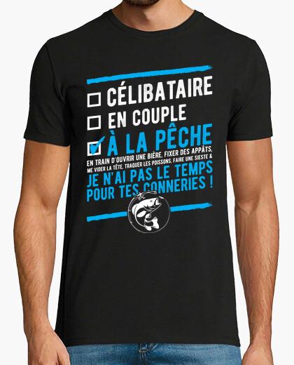 Tee-shirt Célibataire à la pêche