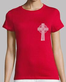 celtic fille, manches courtes, rouge