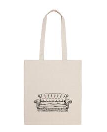 central perk sofa white bag