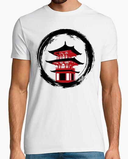 T-shirt cerchio del tempio rosso