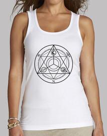 cerchio occulture canotta nera donna top