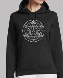 cerchio occulture donna maglione bianco
