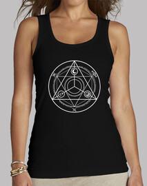 Cercle Occulture Blanc Débardeur Femme