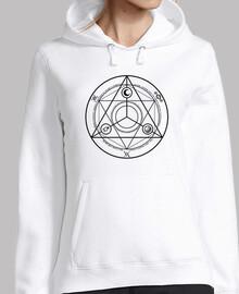 Cercle Occulture Noir Sweat Femme