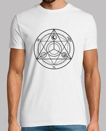 Cercle Occulture Noir T-shirt Homme