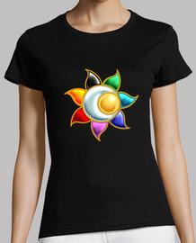 cercle solaire symbole t-shirt  femme