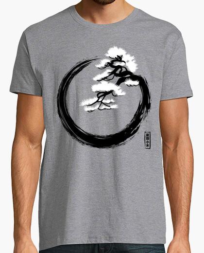 Tee-shirt cercle zen avec bonsaï