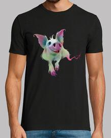 cerdo colorido psicodélico
