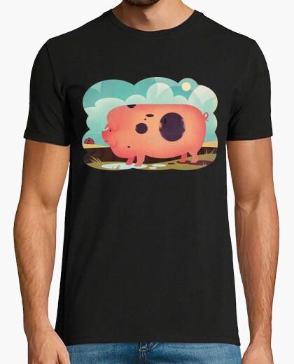 Camiseta cerdo de la vendimia