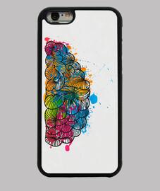 Cerebro creativo mitad