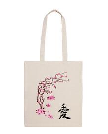 Cerezo japonés - caligrafía