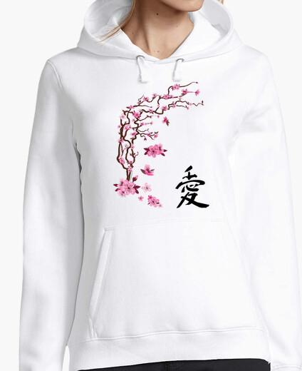 """Jersey Cerezo japonés - caligrafía """"love"""""""