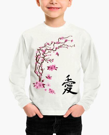 "Ropa infantil Cerezo japonés - caligrafía ""love"""