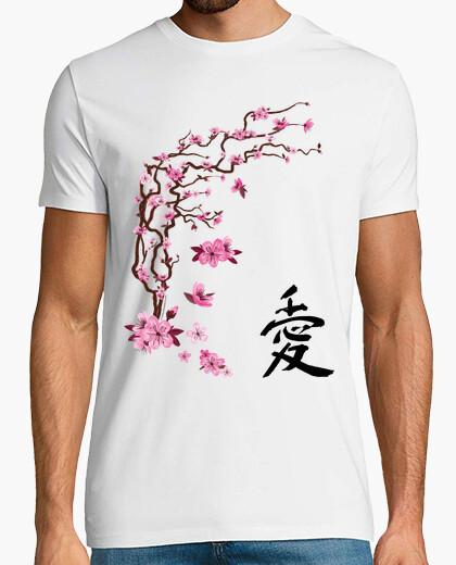 Camiseta Cerezo japonés - caligrafía