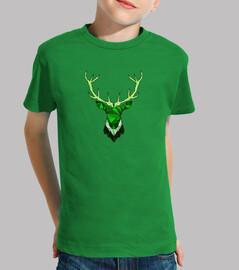cerf hippie vert