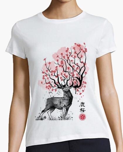 Tee-shirt cerf sakura