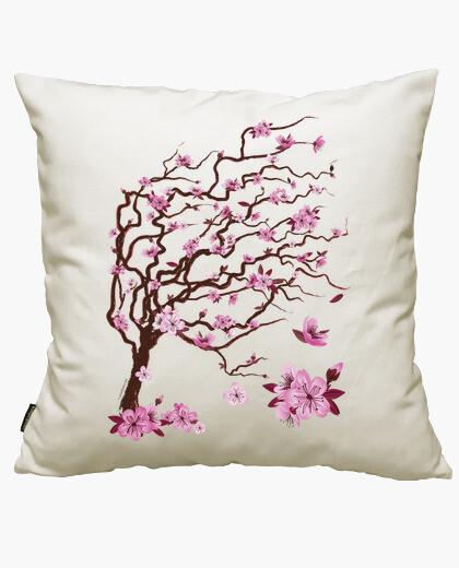 Housse de coussin cerisier japonais