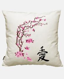 cerisier japonais - l'amour de la calligraphie