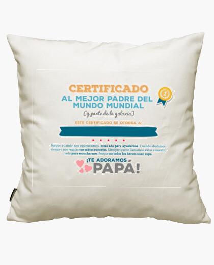 Fodera cuscino certificato per il miglior padre del mo