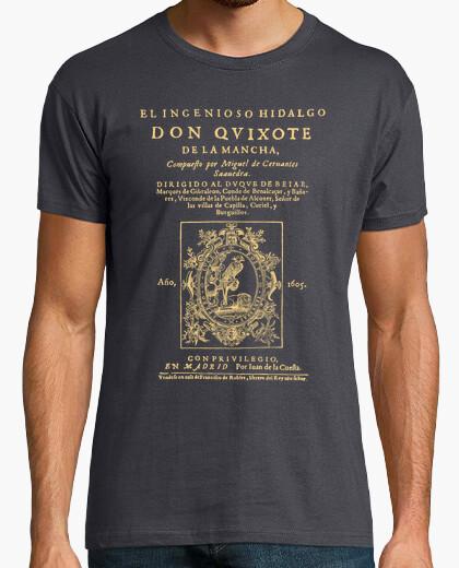T-shirt cervantes. don chisciotte (tee scure)