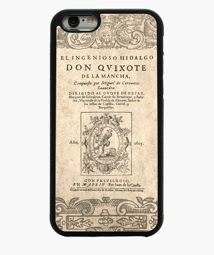 Funda iPhone 6 / 6S Cervantes. Don Quijote (phones)