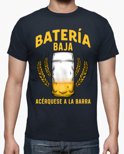 Camiseta Cerveza Batería Baja