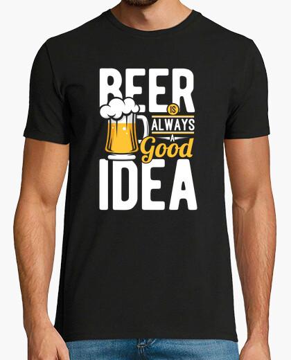 Camiseta cerveza buena idea