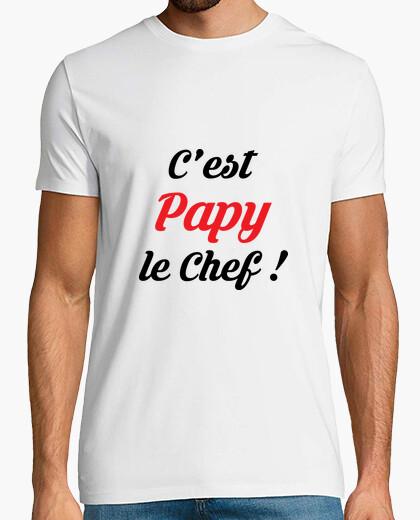 Tee-shirt C'est Papy le chef ! Papi / Grand-Père