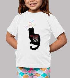 cette fille aime les chats
