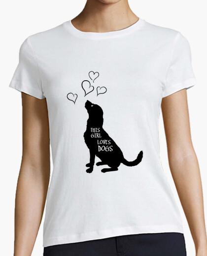 Tee-shirt cette fille aime les chiens - animaux d