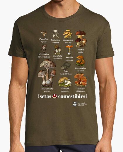 Tee-shirt champignons comestibles
