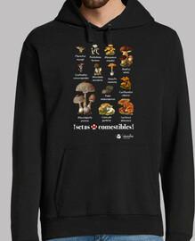 champignons comestibles (fond sombre)