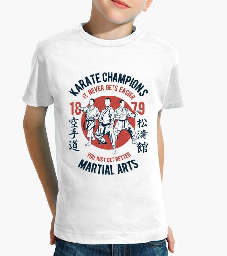 Vêtements enfant champions de karaté